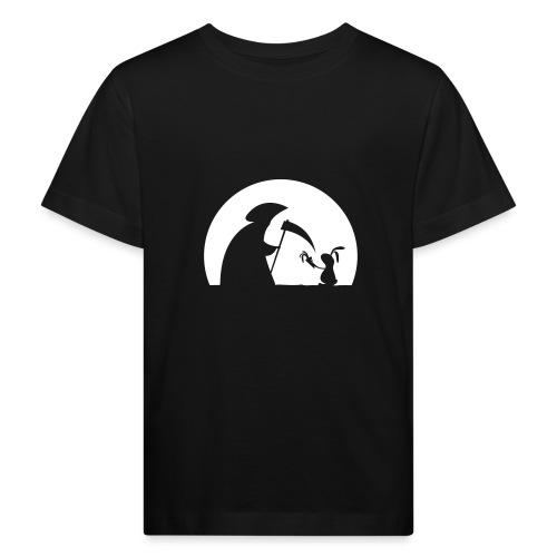 Hase Kaninchen Möhre Tod Sensenmann Karotte bunny - Kinder Bio-T-Shirt