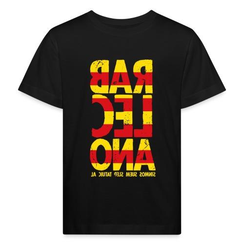 Barcelona (flagcolor oldstyle) - Kinder Bio-T-Shirt
