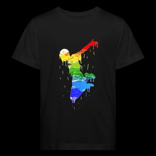 jump design paint - Kids' Organic T-Shirt