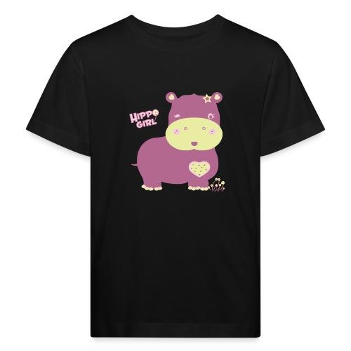 hippo baby girl - Camiseta ecológica niño
