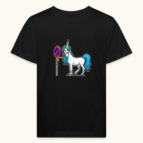 Cadeau interdit de stationnement blague licorne drôle - T-shirt bio Enfant