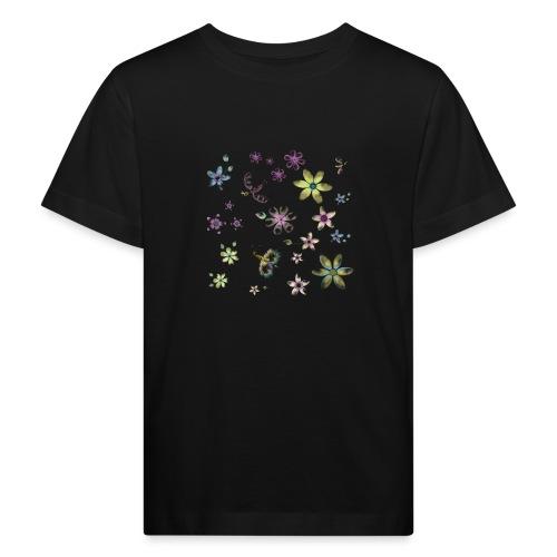 flowers and butterflies - Maglietta ecologica per bambini