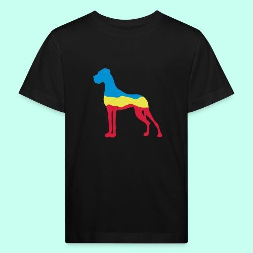 Flaggen Dogge - Kinder Bio-T-Shirt