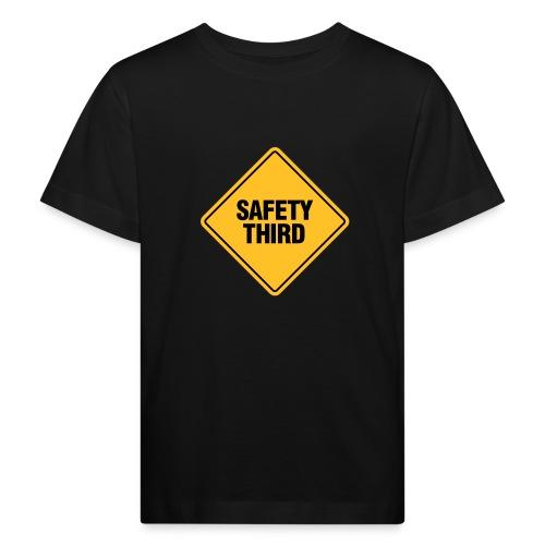 SAFETY THIRD - Kids' Organic T-Shirt