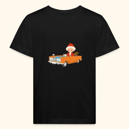 Sandmann fährt Auto - Kinder Bio-T-Shirt