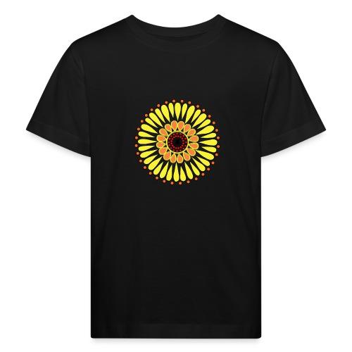 Yellow Sunflower Mandala - Kids' Organic T-Shirt
