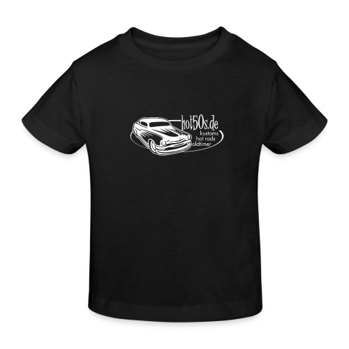 hot50s Logo weiss - Kinder Bio-T-Shirt