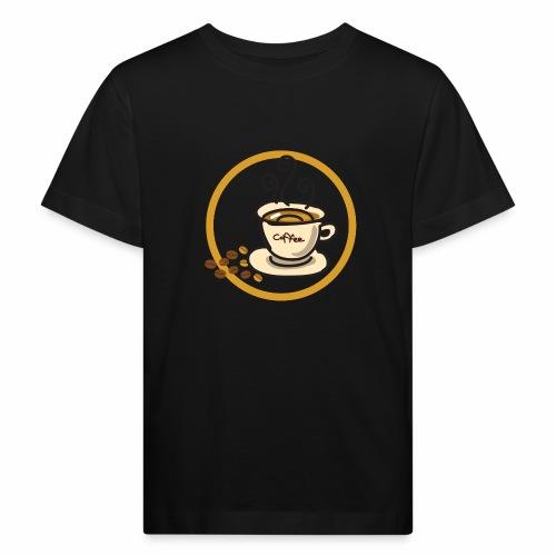 Kaffeeemblem - Kinder Bio-T-Shirt