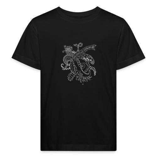 Fantasie Fantasy white scribblesirii - Kinder Bio-T-Shirt