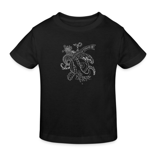 Fantasy white scribblesirii - Kids' Organic T-Shirt