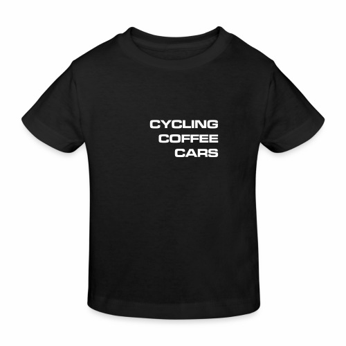 Cycling Cars & Coffee - Kids' Organic T-Shirt