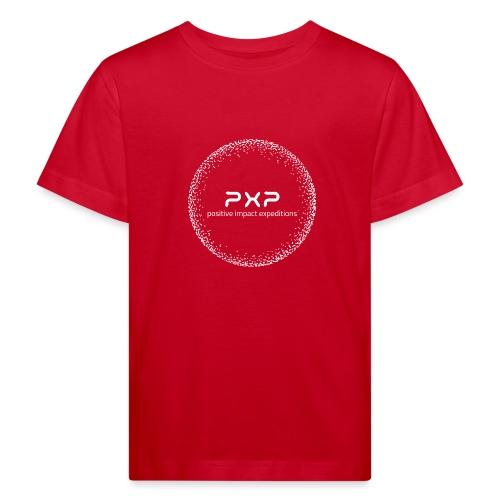 white logo transparent 2x - Kids' Organic T-Shirt