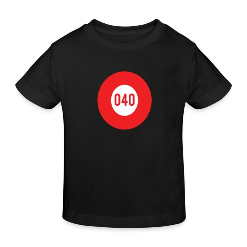 040 logo - Kinderen Bio-T-shirt