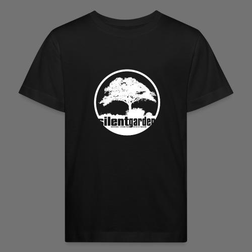 hiljainen puutarha (valkoinen) - Lasten luonnonmukainen t-paita