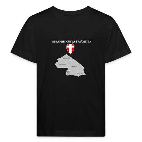 straight outta favoriten wien weiß - Kinder Bio-T-Shirt