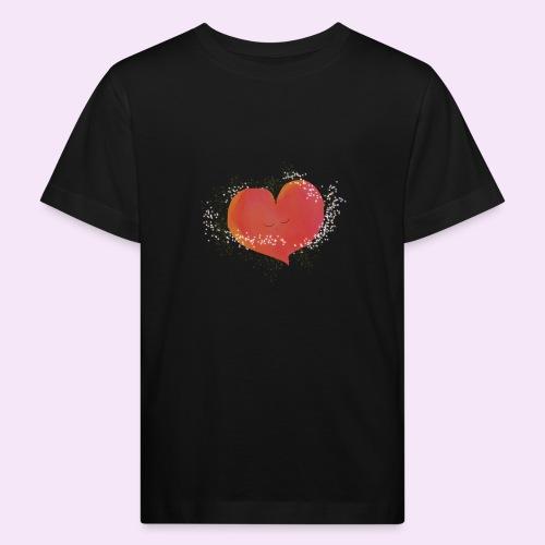 Blozend hartje kinder baby shirt - Kinderen Bio-T-shirt