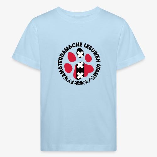 ALS witte cirkel lichtshi - Kinderen Bio-T-shirt