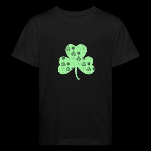 Glücksbringer Kleeblatt - Kids' Organic T-Shirt
