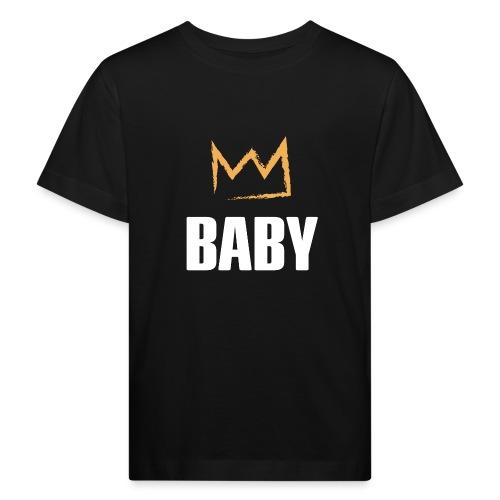 Baby mit Krone - Kinder Bio-T-Shirt