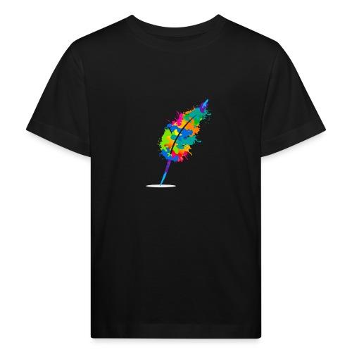 Original Schreiben-im-Flow.de - Feder - Kinder Bio-T-Shirt