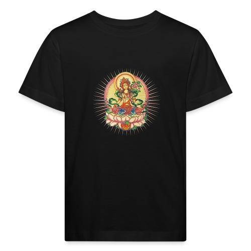 Tara Tibet Buddhismus Lotus Meditation Yoga - Kinder Bio-T-Shirt