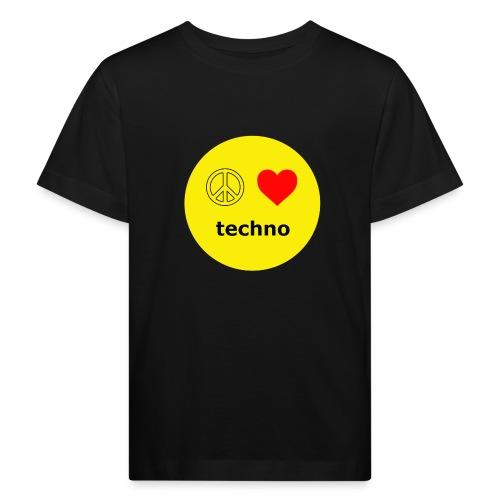 paz amor techno - Camiseta ecológica niño