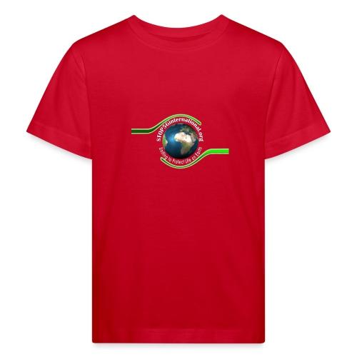 LOGO white font - Kids' Organic T-Shirt