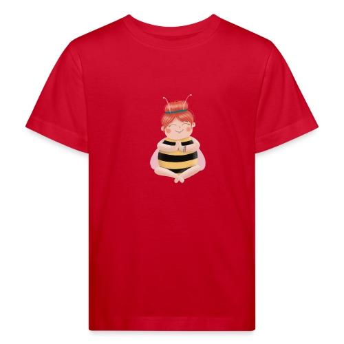 Biene am Meditieren - Kinder Bio-T-Shirt