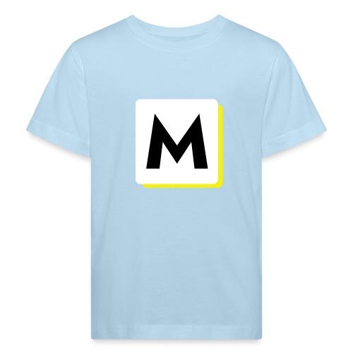stor logo hvid - Organic børne shirt