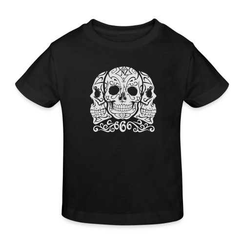 Skull Dia de los muertos - T-shirt bio Enfant