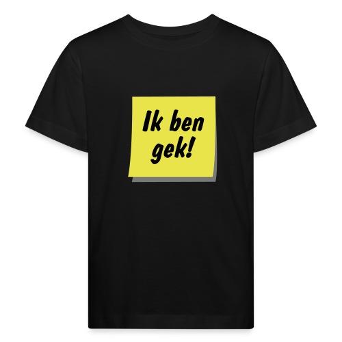postit gek ill9 - Kinderen Bio-T-shirt