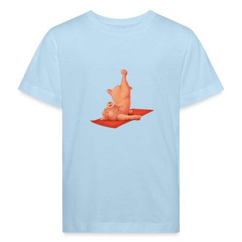 Yoga - Schweindi - Kinder Bio-T-Shirt