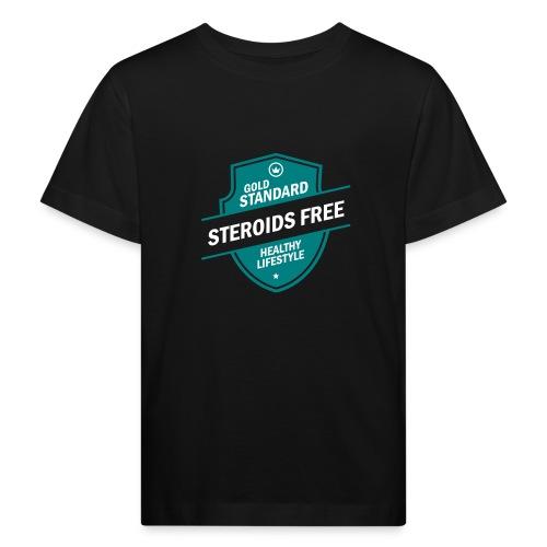 GoldStd-SteroidsFree-33 - Kids' Organic T-Shirt