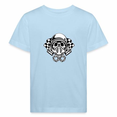 Racing Skull Helmet - Kids' Organic T-Shirt