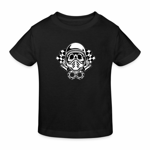 Racing Skull Helmet - Kids' Organic T-Shirt
