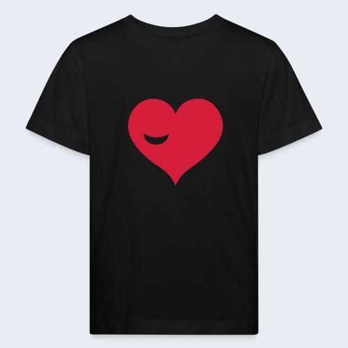 Winky Heart - Kinderen Bio-T-shirt