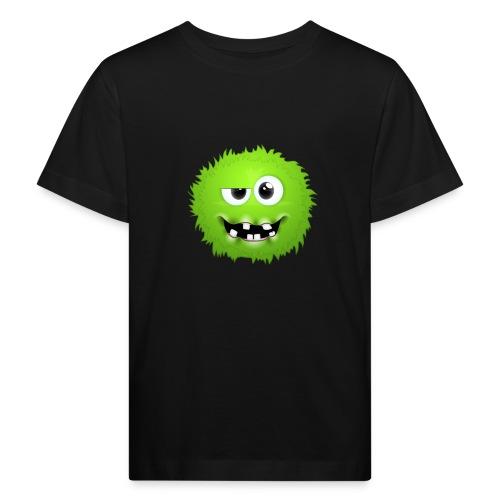Grünes rundes Monster 13 - Kinder Bio-T-Shirt