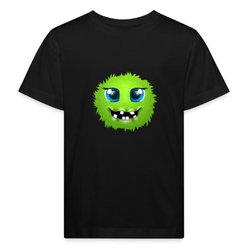 Grünes rundes Monster 18 - Kinder Bio-T-Shirt