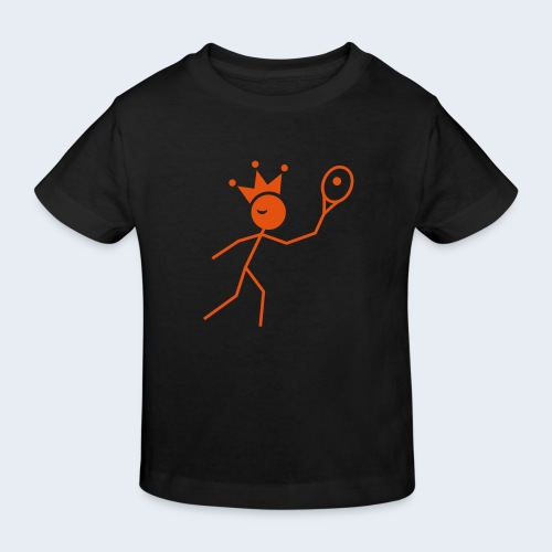 Tenniskoning - Kinderen Bio-T-shirt