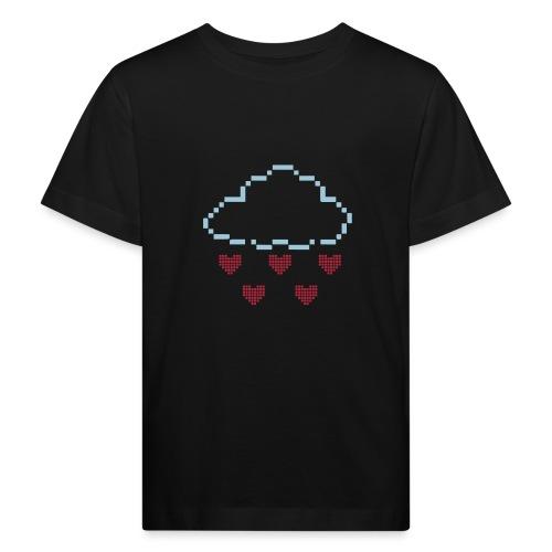 Wolke Pixelherz - Kinder Bio-T-Shirt