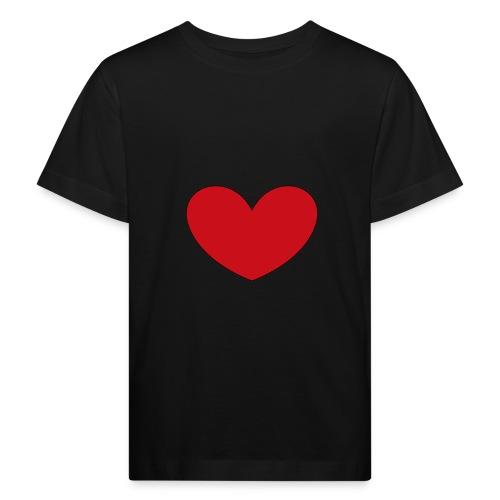 hjerte png - Organic børne shirt