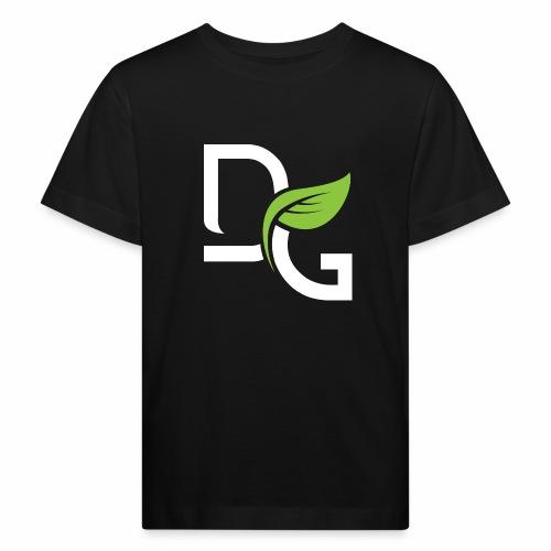 DrGreen Logo Symbol weiss grün - Kinder Bio-T-Shirt