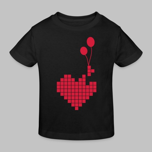heart and balloons - Kids' Organic T-Shirt