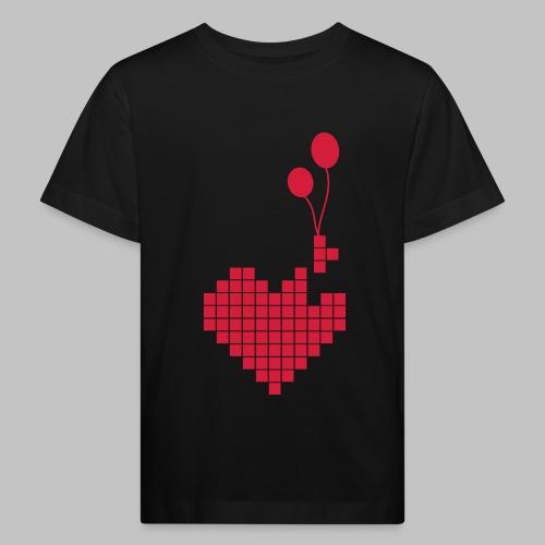 heart and balloons - Kids' Organic T-Shirt