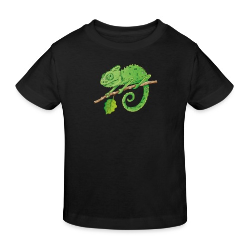 charmantes Chamäleon - Kinder Bio-T-Shirt