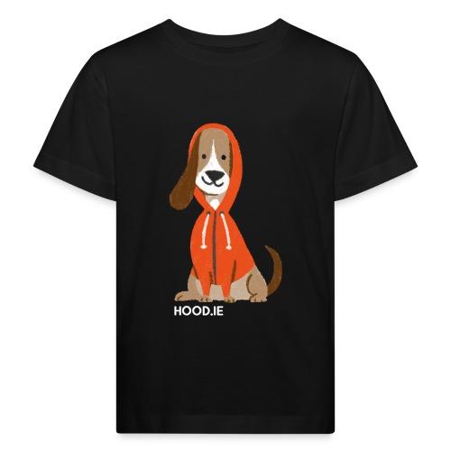 shirt-dog-hoodie-schrift - Kids' Organic T-Shirt