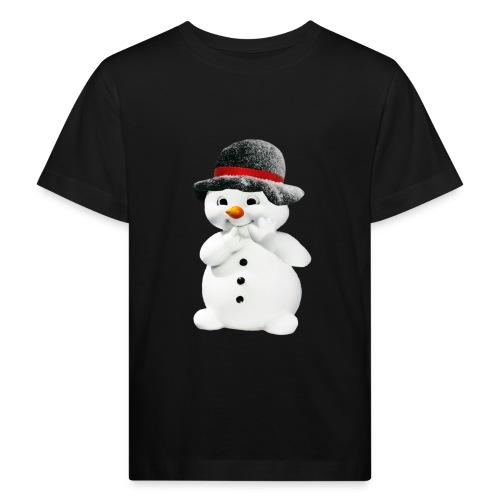 Schneemann Winter Weihnacht - Kinder Bio-T-Shirt