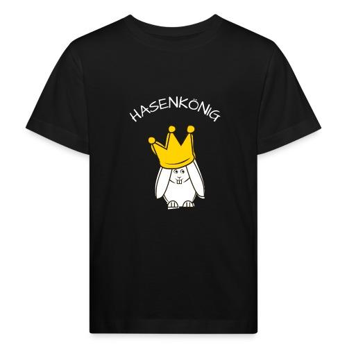 Hipps mit Schriftzug Hasenkönig (weiß) - Kinder Bio-T-Shirt