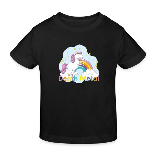 unicorn death metal - Kinderen Bio-T-shirt