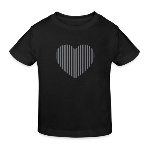 heart_striped.png - Kids' Organic T-Shirt